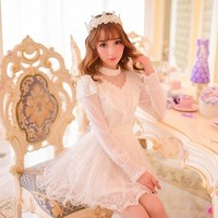 Princess sweet lolita dress Candy rain Sweet spring new patchwork Water jade points Princess chiffon dress W10-in Dresses from Women's Clothing & Accessories on Aliexpress.com | Alibaba Group