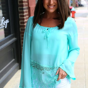 Turquoise Waters {Lace Tunic}