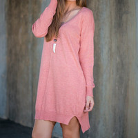 Longing For Love Sweater Dress, Dusty Pink