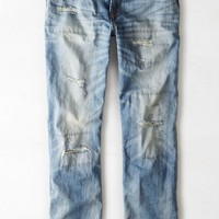 AEO Men's Relaxed Straight Jean (Medium Repair)