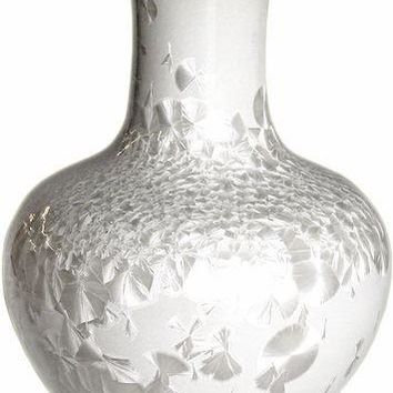 Crystal Shell Globular Vase