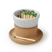 Strike It Up Match Striker | Stoneware Match Striker