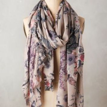 Flora Fawn Scarf by Anthropologie in Neutral Size: One Size Scarves