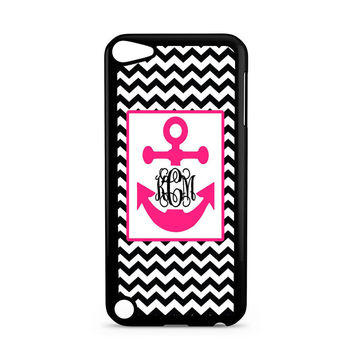 Monogram Anchor Wallpaper Ipod Touch 5 Case