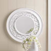 Striking White Ivy Wall Mirror