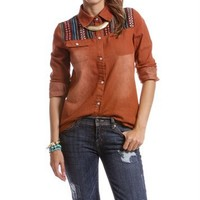 Rust Long Sleeve With Western Yoke