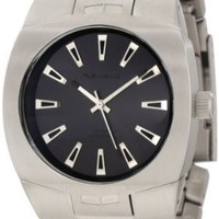 Vestal Men's GHD008 Gearhead Silver Black Analog Watch