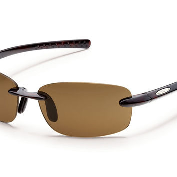 Suncloud - Momentum Tortoise Sunglasses, Brown Polarized Lenses