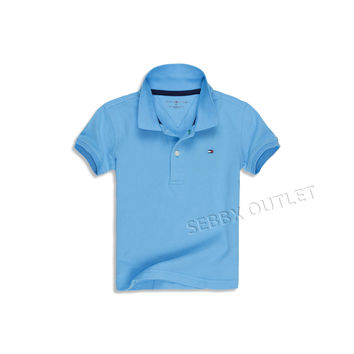 Tommy Hilfiger Polo Shirt Solid Turqoiuse Blue