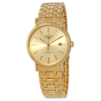 Longines Presence Automatic Gold Dial Mens Watch L49212328