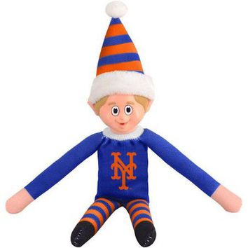 New York Mets NY Holiday Christmas Team Elf with Santa Hat n Shirt MLB
