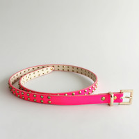 Hot Pink Studded Belt