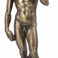 David Statue by Michelangelo 12H, Bonded Bronze