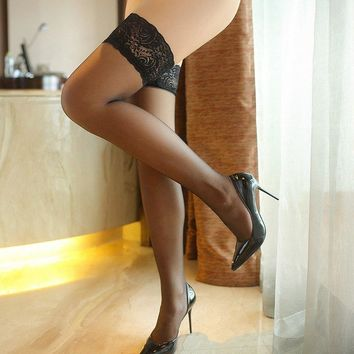 Exquisite Lace Sexy Thin Stockings Over Knee Socks for Women Barreled Funny High Cost Performance Meias Canon Long Bas