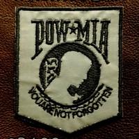 REFLECTIVE POW MIA Shield Small Patch for Vest jacket SB622