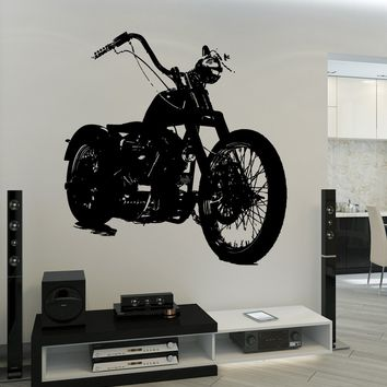 Wall Vinyl Decal Bike Biker Motorcycle Garage Speed Race Decor Unique Gift z3738