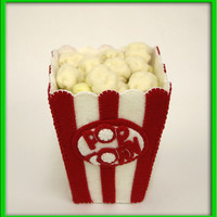 Handmade Felt Play Food - Movie Time Popcorn for Imaginative Play