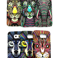 Aztec Jungle Animal Matte Slim Phone Cases For Samsung Galaxy S6, S6 Edge S7 S7Edge