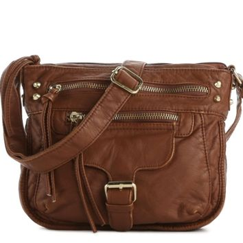 Mix No. 6 Front Buckle Distressed Crossbody Bag