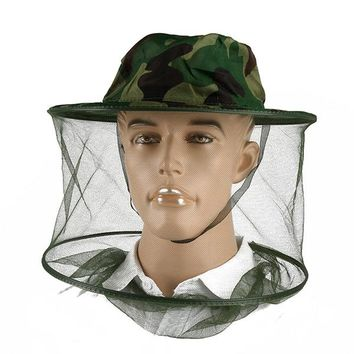 Insect Mask Useful Anti-Mosquito Bee Insect Fishing Mask Face Protect Hat Net Camo Cap