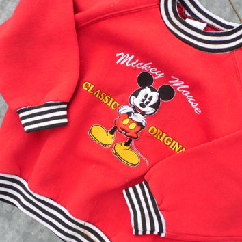 FREE SHIPPING -  Mickey Mouse Sweatshirt /Disney Sweater/Vintage Mickey Mouse/Child's Sweater/Vintage Children's Clothing