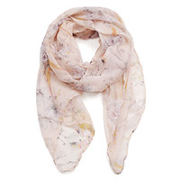 Enchanted Floral Scarf - Purple