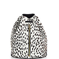 Elizabeth and James - Abstract Animal-Print Calf Hair Sling Backpack - Saks Fifth Avenue Mobile