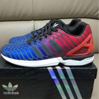 "Fashion ""Adidas"" Chameleon Reflective Sneakers Sport Shoes red blue"
