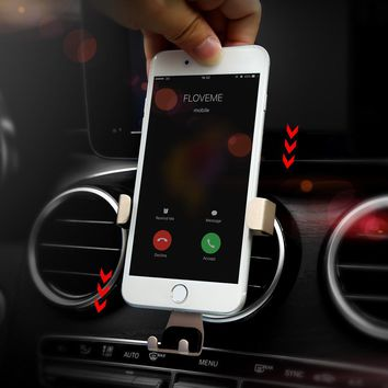 For Apple iPhone 8 7 6 Plus 5 Phone Car Holder Gravity Air Vent Car Phone Holder Stand Charger Desk Universal Phone Accessories