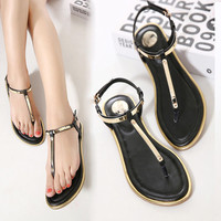 2016 New Summer sequin Sandals Flip Flops Flat Sandal For Women