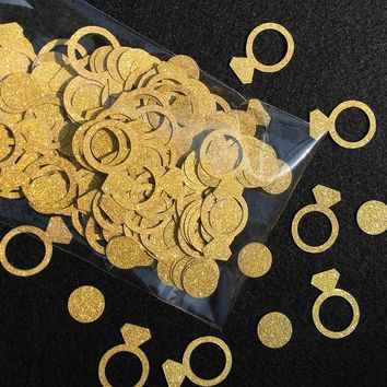 Gold Glitter 2.5cm Ring Confetti Wedding/Photo Prop/Bachelorette Party Supplies