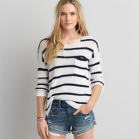 AEO STRIPE PULLOVER SWEATER