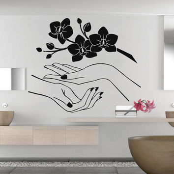 Wall Decal Sakura Flower Orchidea Beautiful Blossom Sakura Cherry Branch C194