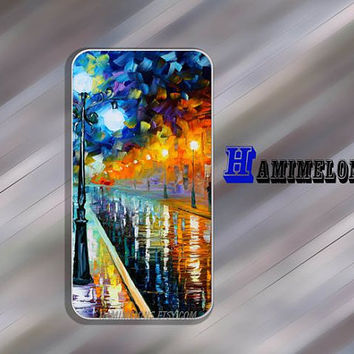"Oil painting street lamp  Case   iPhone 4/4S Case. ""Board Wood"" Wood Case with apple . Giant Sparrows Collection"