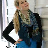 Floral Patterned Lightweight Scarf
