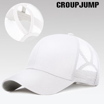 Trendy Winter Jacket GROUP JUMP Glitter Ponytail Baseball Cap Women Snapback Caps Women's Cap Female Sequins Shine Summer Hats Mesh Trucker Dad Hat AT_92_12