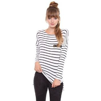 Contemporary Two Toned Striped Long Sleeve Shirt RT-8654