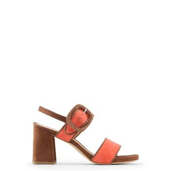 Made In Italia Brown Leather Ankle Strap Sandals