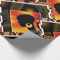 African Hip Hop Graphic Art Wrapping Paper
