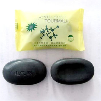 1Pc Active Energy Black Bamboo Charcoal Soap Face Body Clear Anti Bacterial Anti Aging Beauty Health Care Tourmaline Soap RP1-5
