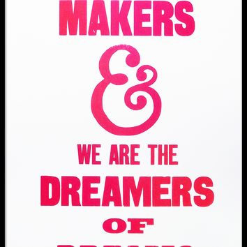 We are The Music Makers - keep it wonka