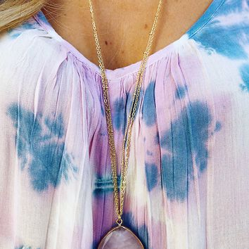 Something To Treasure Necklace: Gold/Lilac