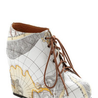 Jeffrey Campbell Mapmaking Your Move Wedge | Mod Retro Vintage Wedges | ModCloth.com