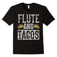 Flute and Tacos Funny Taco Band Distressed T-Shirt