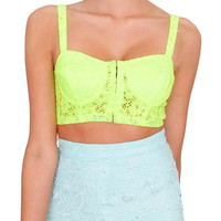 Hot Child In The City Bra Top - Neon Green