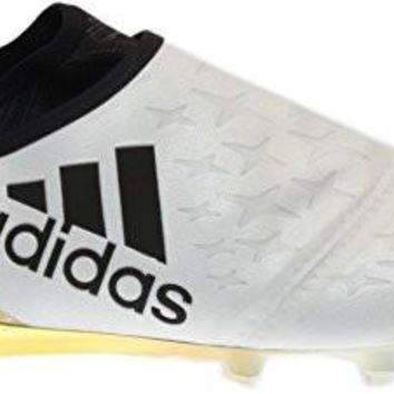 adidas X 16+ Purechaos FG Soccer Cleats (White, Black, Gold)