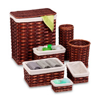 Honey Can Do 7 Piece Wicker Hamper Set