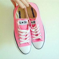 Adult Converse All Star Sneakers Low-Top Leisure shoes Pink