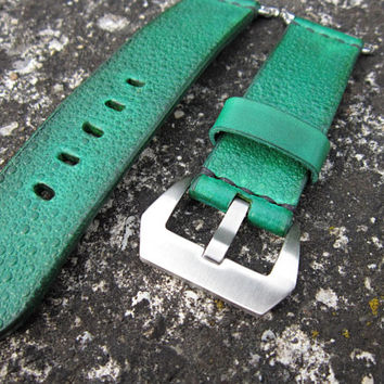 Apple Watch Genuine Green Leather Strap 42mm