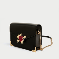 CROSSBODY BAG WITH HEART DETAIL